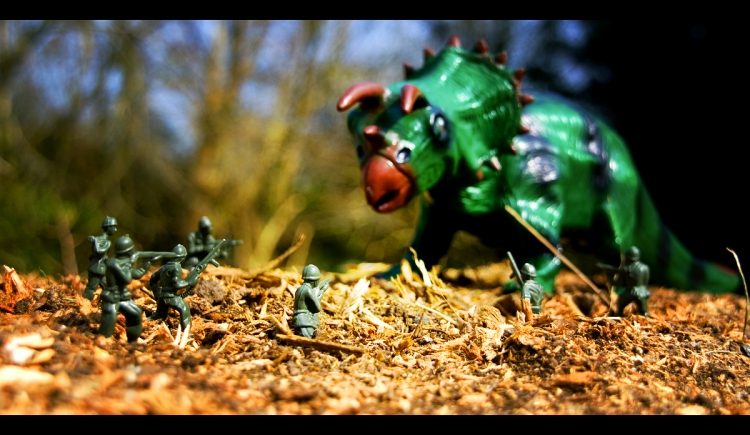 Humanity, you are no match for Dino-Thunder! (c) Carl Jones  by-nc 2.0